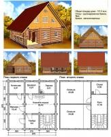 Проект деревянного дома№061
