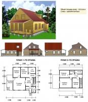 Проект деревянного дома№062
