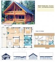 Проект деревянного дома№063