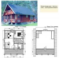 Проект деревянного дома№064
