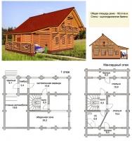 Проект деревянного дома№065