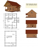 Проект деревянного дома№066