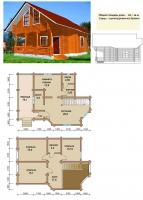 Проект деревянного дома№067