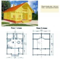 Проект деревянного дома№068