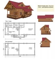 Проект деревянного дома№069