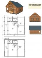 Проект деревянного дома№070