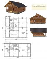 Проект деревянного дома№071
