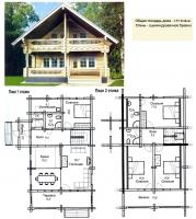 Проект деревянного дома№072