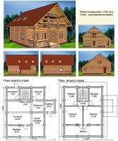 Проект деревянного дома№073
