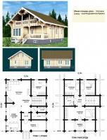 Проект деревянного дома№074