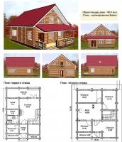 Проект деревянного дома№075