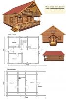 Проект деревянного дома№076