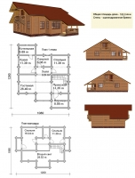 Проект деревянного дома№077