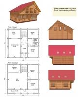 Проект деревянного дома№078