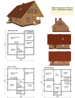 Проект деревянного дома№079