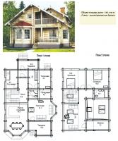 Проект деревянного дома№080