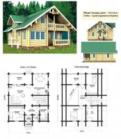 Проект деревянного дома№081