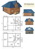 Проект деревянного дома№082
