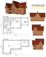Проект деревянного дома№083