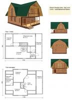 Проект деревянного дома№084