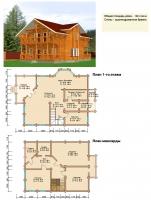 Проект деревянного дома№085