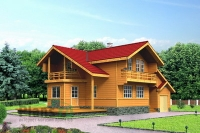 Проект деревянного дома№086