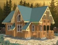 Проект деревянного дома№087