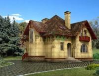 Проект кирпичного дома№034