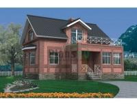 Проект кирпичного дома№038