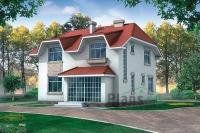 Проект кирпичного дома№054