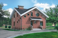 Проект кирпичного дома№055