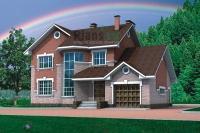 Проект кирпичного дома№057
