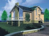 Проект кирпичного дома№058