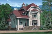 Проект кирпичного дома№063