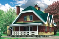 Проект кирпичного дома№065