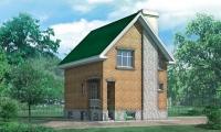 Проект кирпичного дома№069