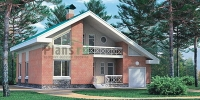 Проект кирпичного дома№082