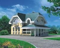 Проект кирпичного дома№085