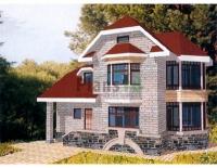 Проект кирпичного дома№092