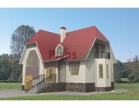 Проект кирпичного дома№102