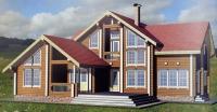 Проект деревянного дома№093