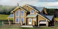Проект деревянного дома№094