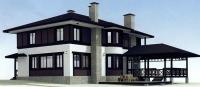 Проект деревянного дома№095