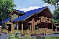 Проект деревянного дома№098