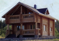 Проект деревянного дома№100